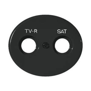 5550.1 AN (5550_1 AN) NIE Tacto Антрацит Накладка розетки TV-SAT