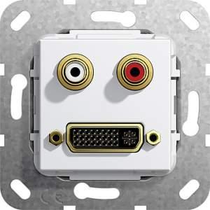 564603 Разъем DVI, тюльпан аудио