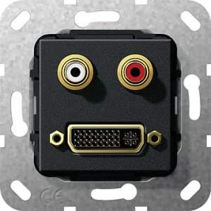 564610 Разъем DVI, тюльпан аудио