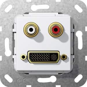 564703 Разъем DVI, тюльпан аудио