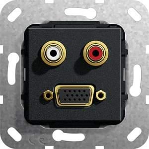 565710 Разъем VGA, тюльпан аудио