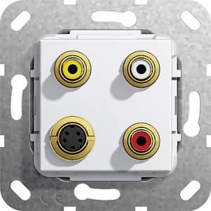 566103 Разъем S Video,сост,тюльпан аудио