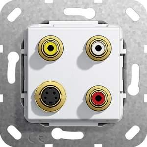 566203 Разъем S Video,сост,тюльпан аудио