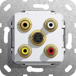 566303 Разъем S видео,сост,C аудио,M гнездо