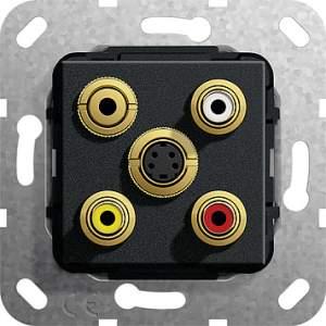 566310 Разъем S видео,сост,C аудио,M гнездо