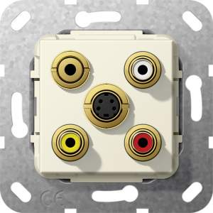566401 Разъем S видео,сост,C аудио,M гнездо
