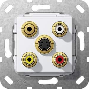 566403 Разъем S видео,сост,C аудио,M гнездо