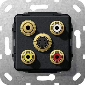 566410 Разъем S видео,сост,C аудио,M гнездо