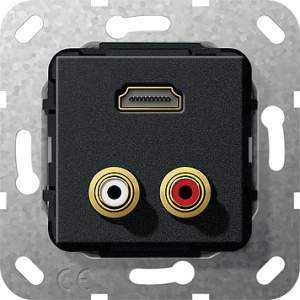 567410 Разъем HDMI, тюльпан аудио