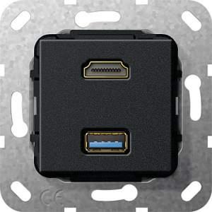 567910 Разъем HDMI, USB 3.0 A