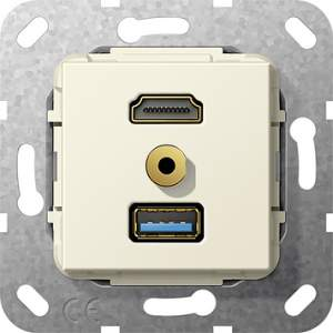 568001 Разъем HDMI,USB3.0A,M гнездо
