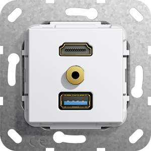 568003 Разъем HDMI,USB3.0A,M гнездо