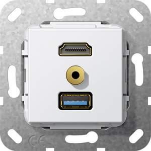 568103 Разъем HDMI,USB3.0A,M гнездо