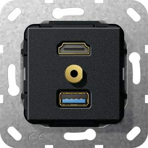 568110 Разъем HDMI,USB3.0A,M гнездо