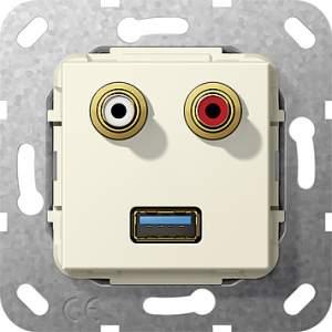 569001 Разъем USB 3.0 A,тюльпан аудио