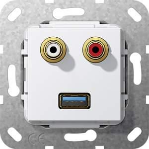 569003 Разъем USB 3.0 A,тюльпан аудио