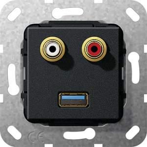 569010 Разъем USB 3.0 A,тюльпан аудио