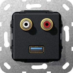 569110 Разъем USB 3.0 A,тюльпан аудио