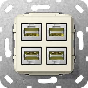 569801 Разъем MJ RJ45 Cat 6A 10 GB 4 местн.