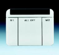 6020-0-1299 BJE Alpha Nea Бел глянц Пульт дистанционного управления ИК, Busch-Ferncontrol IR (2 канала)