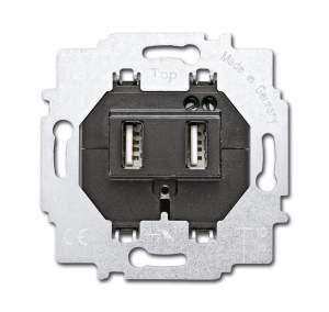 6400-0-0002 BJE Зарядное устройство 6472 U-500, два USB раз, 1400 мА, электр. защита от перегр и КЗ