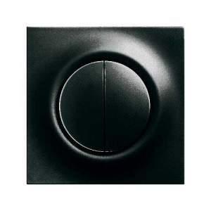 6430-0-0227 (6430-71) BJE Impuls Чёрный Бриллиант Накладка выключателя Буш-Жалюзиконтроль (мех 6411, 6402)