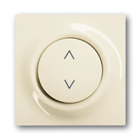 6430-0-0337 (6430-72) BJE Impuls Беж Накладка выключателя Буш-Жалюзи Контроль (мех 6411, 6402)