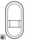 64924 Celiane Графит Лицевая панель розетки для электробритв