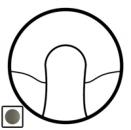 64925 Celiane Графит Накладка вывода кабеля