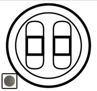 64941 Celiane Графит Накладка аудиорозетки 2-ой