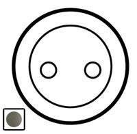 64952 Celiane Графит Накладка розетки с/з, винт.зажим