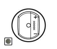 64966 Celiane Графит Накладка светорегулятора с ДУ с индикацией