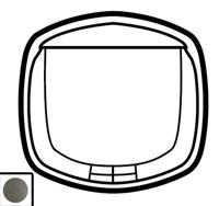 64970 Celiane Графит Лицевая панель для карточного выключателя
