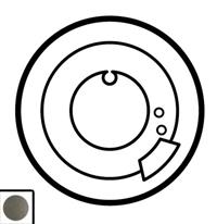 64980 Celiane Графит Накладка термостата комнатного