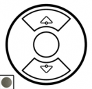 64990 Celiane Графит Накладка выключателя жалюзийного
