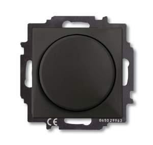 6515-0-0846 (2251 UCGL-95) BJB Basic 55 Шато (чёрн) Светорегулятор поворотно-нажимной 60-400 Вт для л/н