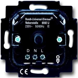 6520-0-0227 (6520 U) BJE Мех Светорегулятор поворотный для л/н, галоген ламп с обмот трансф 1000W