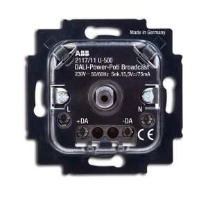 6599-0-2988 BJE Мех Cветорегулятор DALI, поворотный, со встроенным сетевым блоком питания, 75 мА