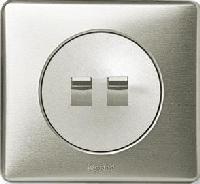66205 Celiane Беж Накладка для двойного рычажкового выкл. без фиксации