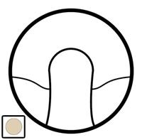 66225 Celiane Беж Накладка вывода кабеля