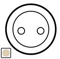 66252 Celiane Беж Накладка розетки с/з (мех 67152, винт.зажим)