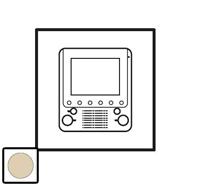 66271 Celiane Беж Лицевая панель для доп. внутреннего видеоблока