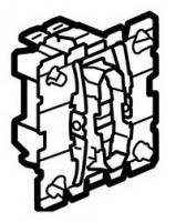67031 Celiane Мех выключателя кнопочного НО+НЗ контакты без фиксации 2 (1) мод