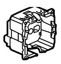 67153 Celiane Мех Розетка с/з с защитными шторками, безвинтовой зажим 2 мод