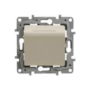672393 Etika Крем Выключатель карточный с выдержкой времени, с подсветкой