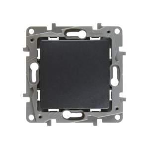 672693 Etika Антрацит Выключатель карточный с выдержкой времени, с подсветкой