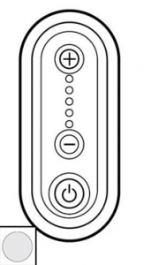 68033 Celiane Бел Накладка светорегулятора нажимного 1000 Вт 5 мод