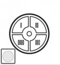 68090 Celiane Белый Клавиша 1-ая для сценарного выключателя 4 сцен.
