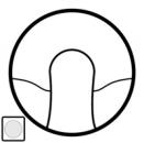 68141 Celiane Бел Накладка вывода кабеля