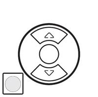 68151 Celiane Бел Накладка выключателя жалюзийного